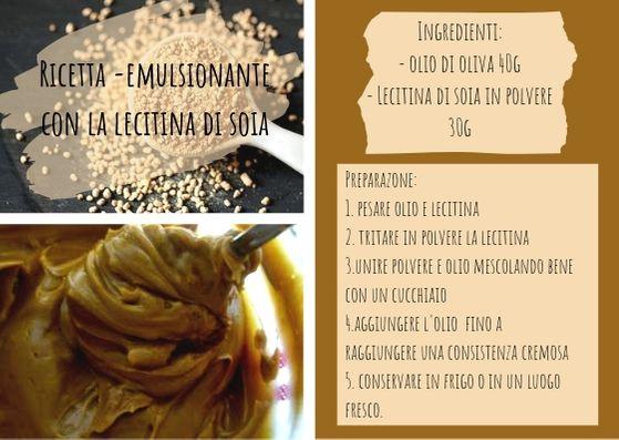 Ricetta emulsione con lecitina di soia